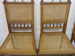 5 stühle stuhlgruppe esszimmerstühle antik um 1880 aus eiche mit gefecht 9426
