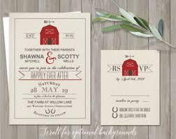 Printable Barn Wedding Invitation Rustic Invitations Country Invite RSVP Digital Template