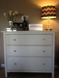 Hemnes Dresser 3 Drawer by Updated Ikea Hemnes Dresser W Mercury Glass Knobs From Hobby Lobby
