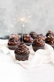 Chocolate Brownie Birthday Cupcakes