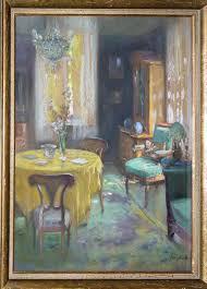 franz huth mein heim interieur wohnzimmer pastell gerahmt