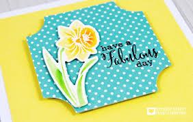 Yellow Daffodil Birthday Card