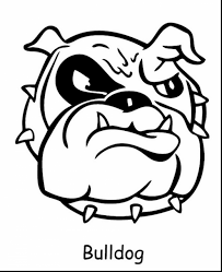 Georgia Bulldog Coloring Pages 17 Superb Bulldogs With