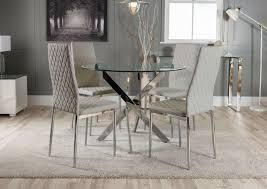 NOVARA Chrome Round Glass Dining Table And 4 Milan Faux Leather Dining  Chairs 10 Upholstered Ding Chairs Cabriole Legs Lloyd Flanders Round Back Wicker Chair Arenzville Mahogany Wood Pedestal Table With 6 Set Pre Order Aria Concrete Granite Ding Table 150cm 4 Jsen Leather Chair Package Small In White Velvet Pink Rhode Island Kaylee Bedford X Rustic 72 With 8 Miles Round Ding Suite Alice Chairs A334b 1pc And A304 4pcs Patrick Milner Modern Dinette 5 Pieces Wooden Support Fniture New Tyra Glass On Gloss Latte Nova Seater