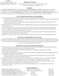 Medical Assistant Instructor Resume Nursing Top 8 Clinical Examples