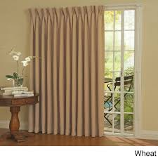 Absolute Zero Curtains Red by Eclipse Thermal Blackout Patio Door Curtain Panel Walmart Com