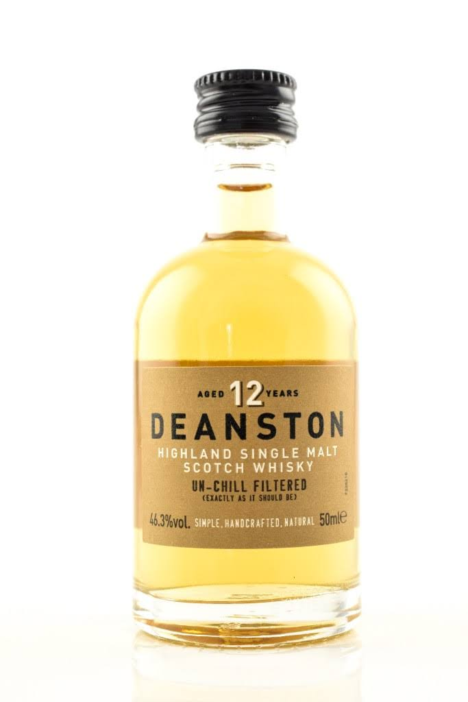 Deanston 12 Year Old Miniature Highland Single Malt Scotch Whisky