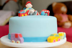 Blue Birthday Cake – Olison s Cupcakes
