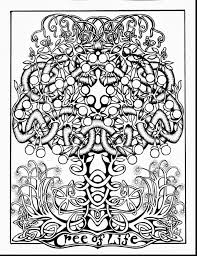 Surprising Tree Of Life Printable Coloring Pages With Celtic And Alphabet