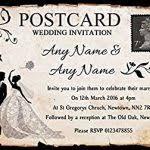 Wedding Invitations Amazon Beautiful Black White Vintage Rustic Postcard Personalised