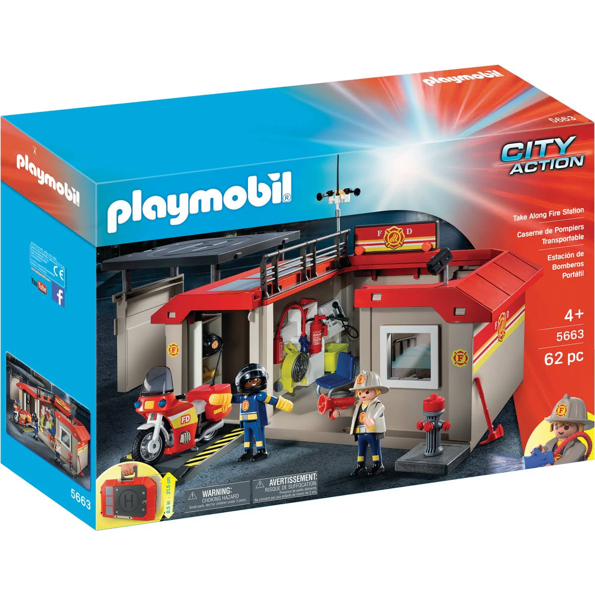 Playmobil City Action Playset - Take Along Fire Station