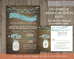 Backyard Bbq Wedding Reception Invitation Wording Soire Regarding Rustic Invitations