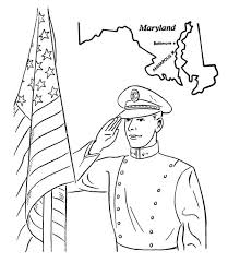 US Naval Academy In Maryland Celebrating Veterans Day Coloring Page