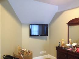 Tv Wall Mount Ideas Hide Wires Pictures In Bedroom Bracket Corner