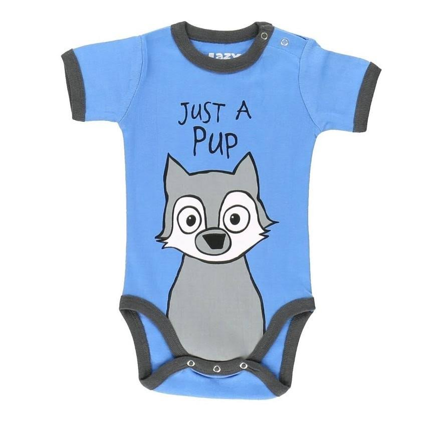 Lazy One Baby Boy Infant Bodysuit Blue 'Just A Pup' Bodysuit 12M