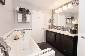 top white and gray tile bathroom white gray stripe bathroom tiles