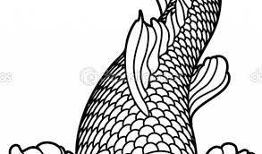 Koi Fish Coloring Pages Page