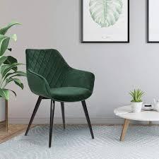 wohnzimmerstuhl aus samtbezug metall beca grün