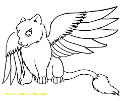 Animals Coloring Pages Cute With Anime Many Readgyan In On