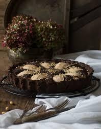 schokoladen frangipane tarte mit birnen lecker und einfach