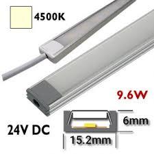 reglette led pour cuisine réglette led 50 cm rigide 24vdc barre eclairage aluminium cuisine