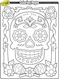 Complicolor Dia De Los Muertos On Crayola Printable Pages And Coloring Books For