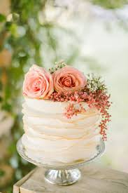 Ruffled Single Tier Wedding Cake