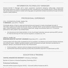 Screenshot Of An IT Manager Resume Example