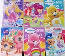 JUMBO COLORING BOOK Care BEARS Shimmer Shine LPS Disney Princess YOU CHOOSE