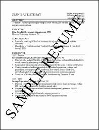 Hotel Job Resume Format New Sample For And Restaurant Management Graduate One