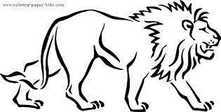 Walking Lion Color Page
