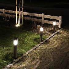 borne solaire inox détecteur de mouvement 50 lumens amiens