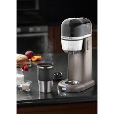 Shop KitchenAid KCM0402ACS 4 Cup Personal Coffee Maker With Multifunctional Thermal Mug