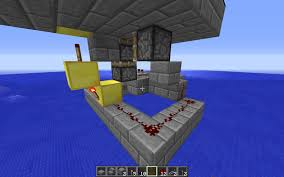 Minecraft Redstone Glowstone Lamp by Minecraft Powering A Redstone Lamp On Top Of A Piston Arqade