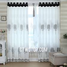 ree scenery white privacy curtains for living room bedroom