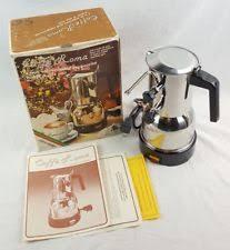 Vintage CAFFE ROMA 9 Cup Espresso Cappuccino Machine COFFEE IMPORTS Italy CX E30