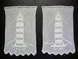 2 häkelgardinen bistrogardinen 35 x 55 cm gardinen