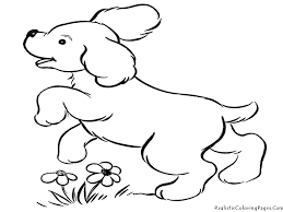Dog Printable Coloring Pages