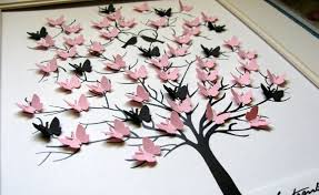 Combining Cut From Paper Of Different Shapes And Sizes Butterflies Can Achieve Very Beautiful Wall Decoration Options Them You Almost Paint