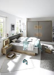 schlafzimmer mit bett 180 x 200 cm wildeiche basaltgrau mit