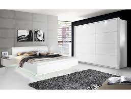 schlafzimmer 20a weiß teils hochglanz bett 2x nako schrank led