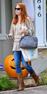Ellen Degeneres Amy Halloween Horror Nights by Amy Adams Goes Makeup Free In West Hollywood Daily Mail Online