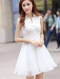 aliexpress com buy 2015 summer women casual white chiffon dress
