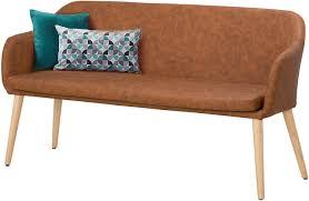 möbel vintage cognac loft24 paldar sofa bank retro 145 cm