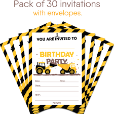 30 Construction Dump Trucks Birthday Invitations With Envelopes ... Birthday Cstruction Themed Party With Free Printables  Noted Trucks Pictures Amazon Com 12340 Watsons Cstruction Truck Birthday Party Holy City Chic Truck Dessert Cake Plates Napkins And Cups Home Ideas Invitations Monster Fire Envelopes First Themed Invites Items Similar To Augustines 2nd M Loves Stay At Homeista Boys Name Age Poster Crane