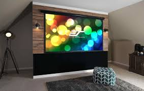 office electric motorized projector screen electric projection