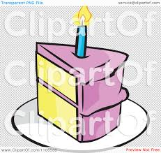 Cake clipart candle slice 13