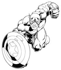 Best Free Captain America Cartoon Coloring Pages For Kids Printable