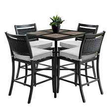 Outdoor/Indoor 9-Piece Aluminum Outdoor Bar Height Dining Set With 4-Wicker  Bar Stools And Sunbrella Beige Cushions Details About Barbados Pub Table Set W Barstools 5 Piece Outdoor Patio Espresso High End And Chairs Tablespoon Teaspoon Bar Glamorous Rustic Sets 25 39701 156225 Xmlservingcom Ikayaa Modern 3pcs With 2 Indoor Bistro Amazoncom Tk Classics Venicepubkit4 Venice Lagunapubkit4 Laguna Fniture Awesome Slatted Teak Design With Stool Rattan Bar Sets Video And Photos Madlonsbigbearcom Hospality Rattan Soho Woven Pin By Elizabeth Killian On Deck Wicker Stools
