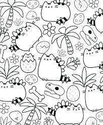 Coloring Pages Pusheen Best Of The Cat Book 25f Christmas Kawaii 112